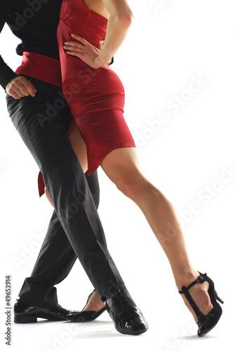 Fotografía  Bailarines de tango elegnace