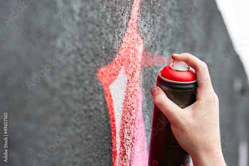 Graffity painter hand Poster