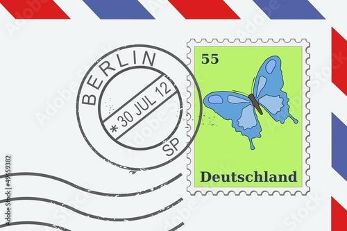Fotografía  Berlin, Germany - postmark on a letter