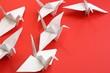 Leinwandbild Motiv Origami