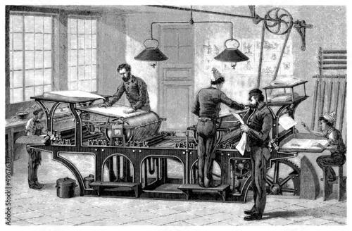 Fotografía  Typo Machine - 19th century