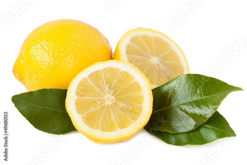 Lemon isolated on white background_II Canvas-taulu