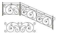 Vector Wrought Iron Modular Railings And Fences
