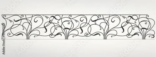 Photo Vector wrought iron modular railing