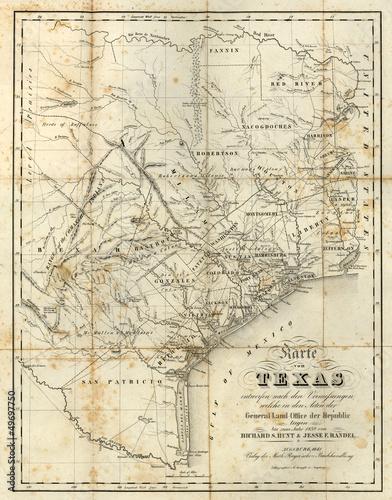 Poster Carte du monde old map
