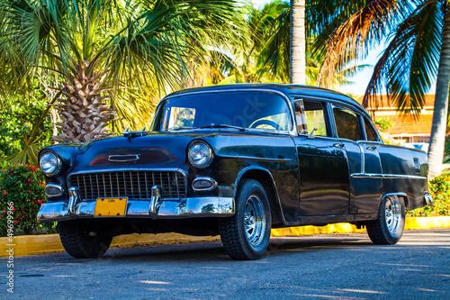 Türaufkleber Autos aus Kuba Amerikanischer Oldtimer in Kuba