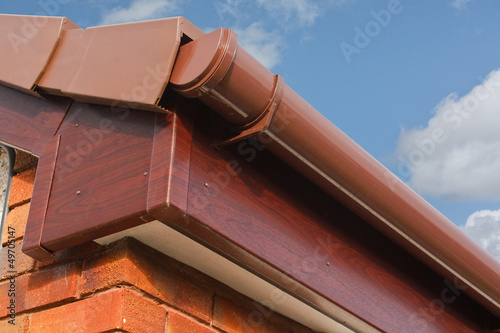 Valokuva  Roofline PVCU Soffit fascia board