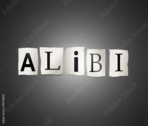 Alibi concept. Canvas Print
