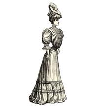 Femme élégante De 1900