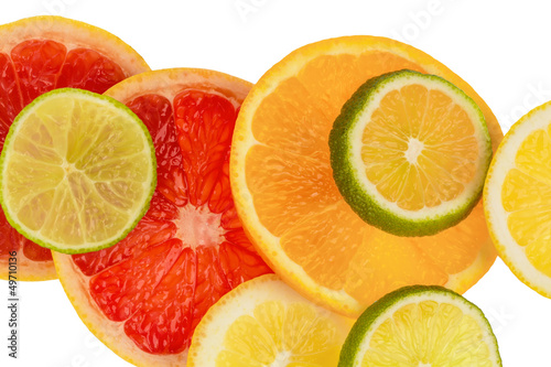 La pose en embrasure Tranches de fruits Orangenscheiben