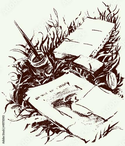 rysowanie-na-trawie
