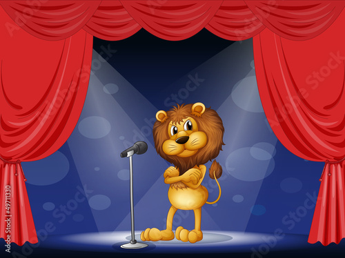 Wall Murals Bears A lion performing on stage