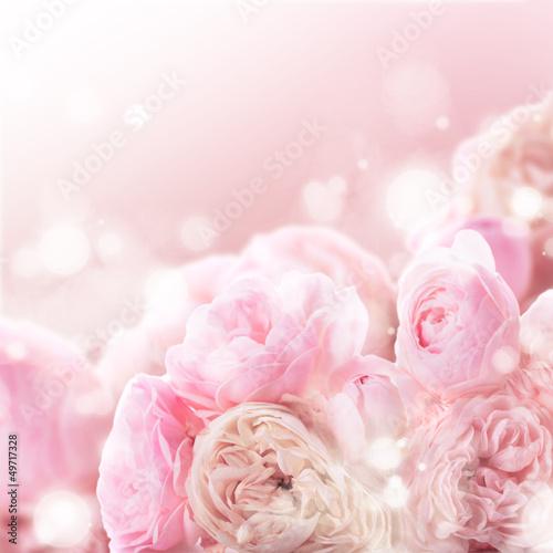 Papiers peints Roses Pink roses bunch
