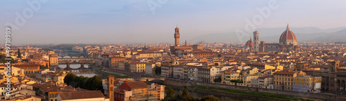 Florence XXL panorama in the morning, Tuscany, Italy, Europe - 49718989