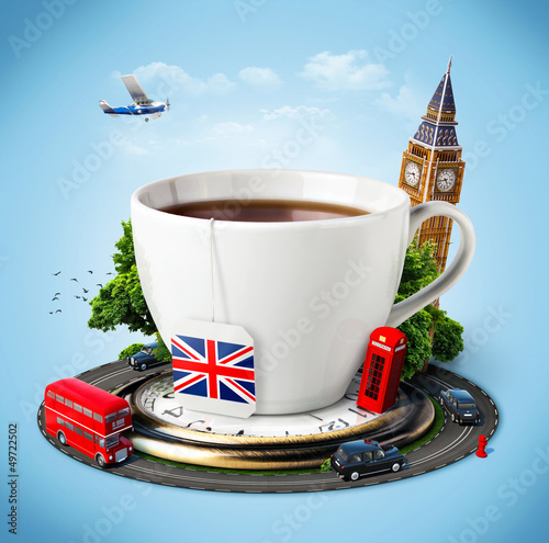 Poster Londres bus rouge England