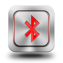 Bluetooth Aluminum Glossy Icon, Button