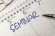 Leinwandbild Motiv Kalender Seminar
