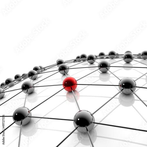 siec-i-internet-ilustracja-3d-wizualizacja-3d