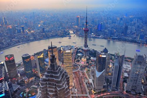 Photo Stands Shanghai Shanghai sunset