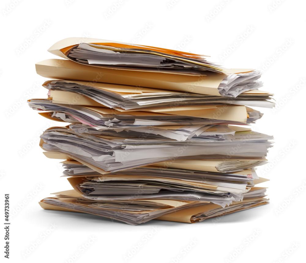 Fototapety, obrazy: Stack Of Files