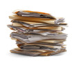 canvas print picture - Stack Of Files