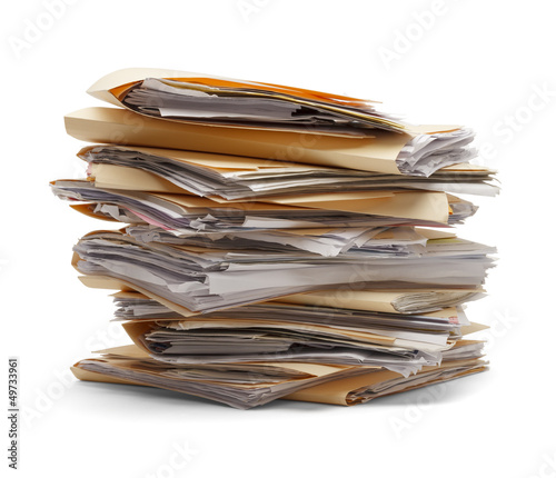 Fototapeta Stack Of Files obraz