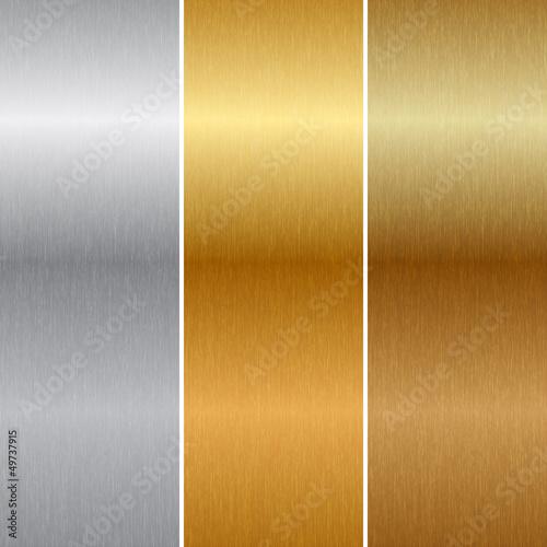 Fotografia  Vector metal textures