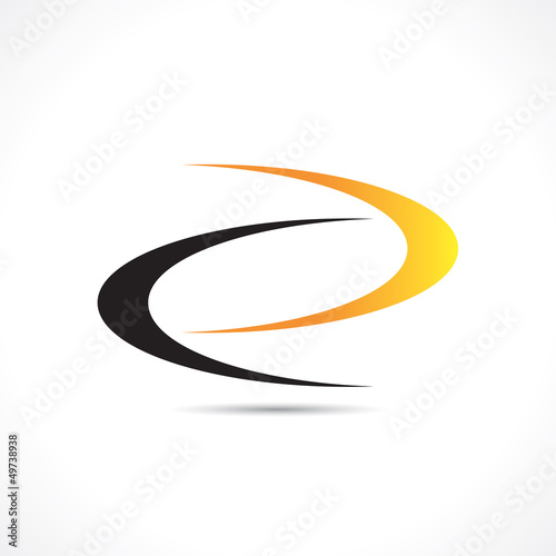 logo boomerangs noir et jaune Canvas Print