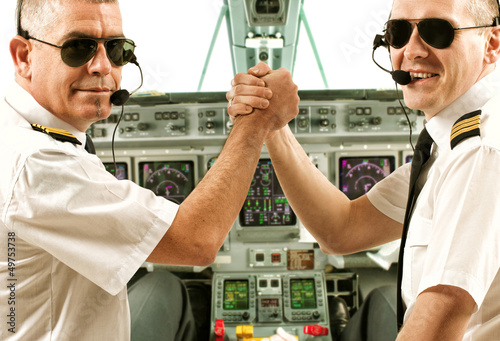 Airline pilots Tablou Canvas