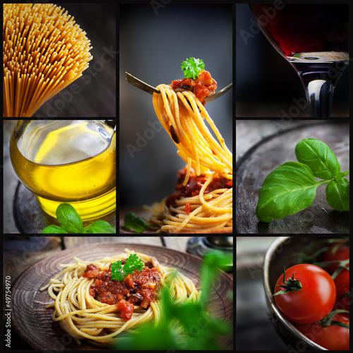 Fotografie, Obraz  Pasta collage