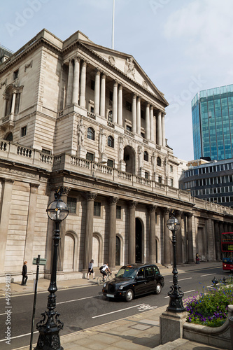 Foto-Kassettenrollo premium - London, Bank of England (von Gina Sanders)