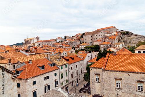 Foto-Kassettenrollo premium - Kroatien, Dubrovnik, Hausdächer