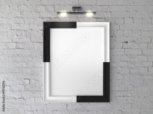 Foto op Canvas Licht, schaduw frame