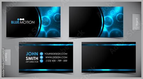Photo  Vector abstract creative business cards (set template)