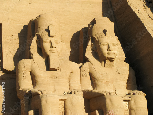 Photo  Abu Simbel heads, Egypt, Africa