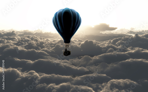 Obraz air balloon on sky - fototapety do salonu