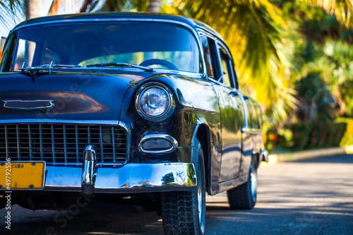 Deurstickers Cubaanse oldtimers Oldtimer in Kuba Farbe