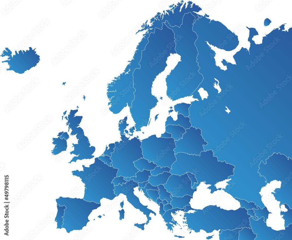 Fototapety, obrazy: Europa Karte