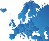 Fototapeta Mapy europa rosja