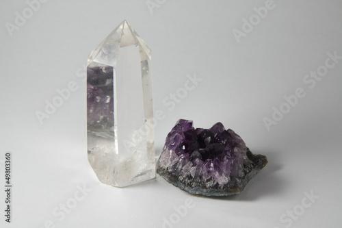 Akustikstoff - Bergkristall und Amethyst (von pit24)