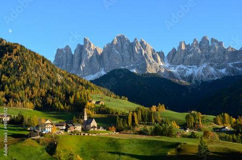 Fotografie, Tablou  St. Magdalena in the Dolomites
