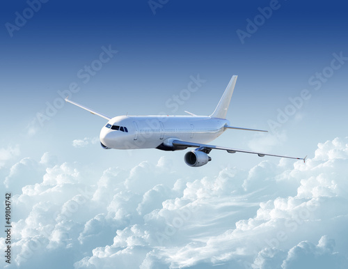 Fotomural  Airplane in the sky