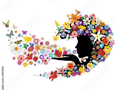 Foto op Canvas Bloemen vrouw Spring Breath Flowers-Soffio di Primavera con Fiori