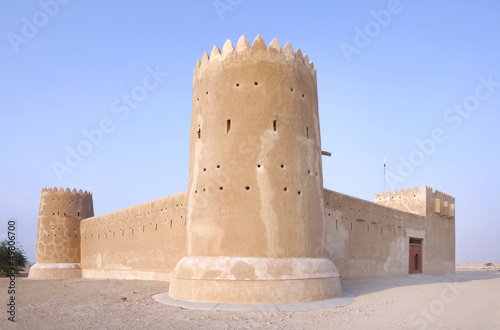 Foto op Canvas Vestingwerk Zubarah fort Qatar, a view from south