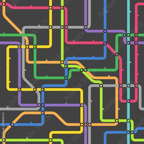 Foto op Aluminium Op straat Abstract color metro scheme