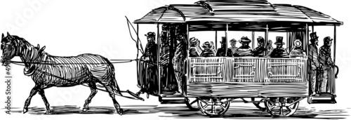 Fototapeta horse omnibus
