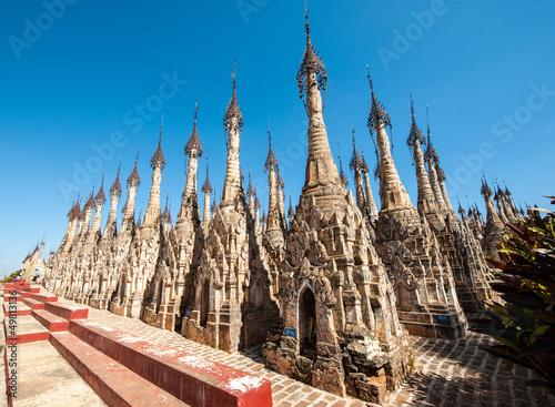 Fotografie, Obraz  Stupas in the Kakku Pagoda Complex in Myanmar