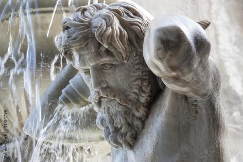 Autocollant pour porte Fontaine europe, italy, sicily, Catania, Amenano fountain