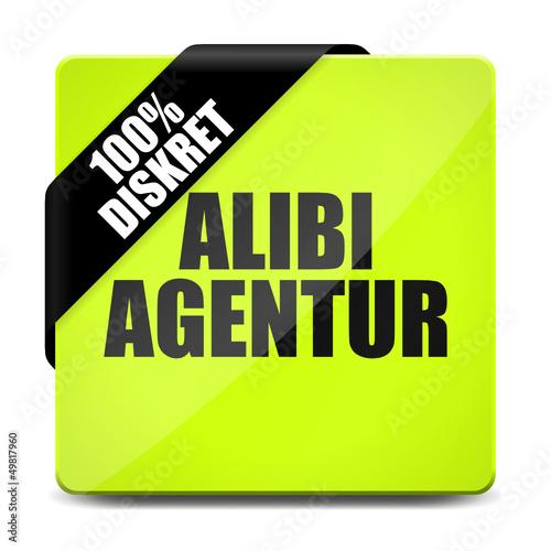 button eckig alibi agentur 100% diskret I Canvas Print