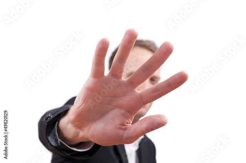 Fotografie, Obraz  Hand symbolisiert Abwehr